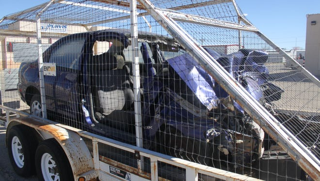 A manged car used for educational demonstrations through the Eddy County DWI program.