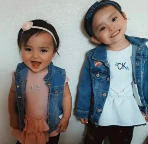 Three-year-old girl named Isabelle Salas and a 2-year-old girl named Anaya Holyan are missing in Carlsbad, New Mexico.