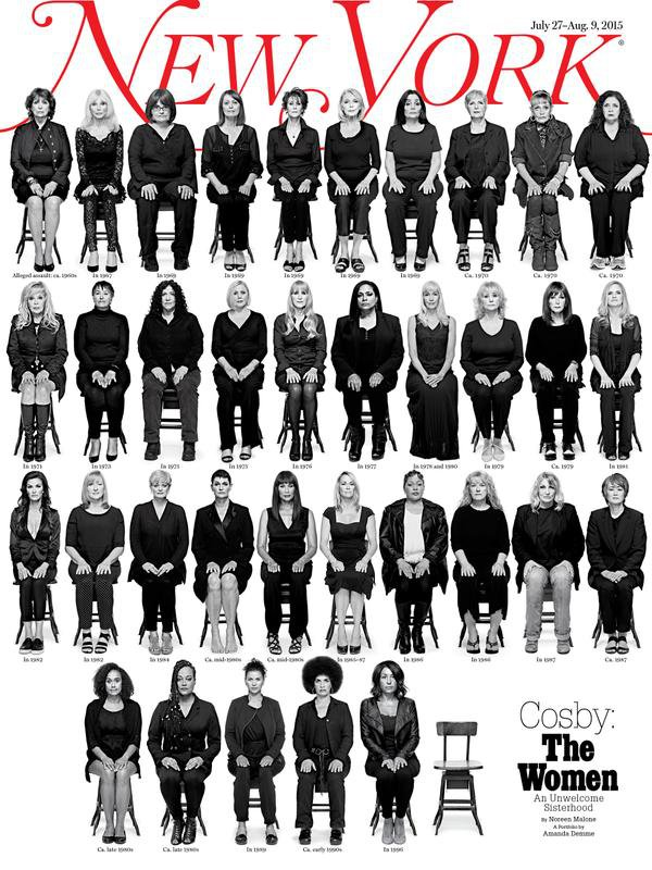 The NY Mag cover showing 35 portraits of women sitting in chairs